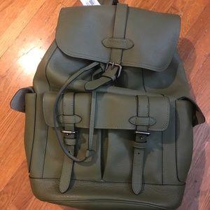 Coach Green Leather Hudson Backpack BNWT